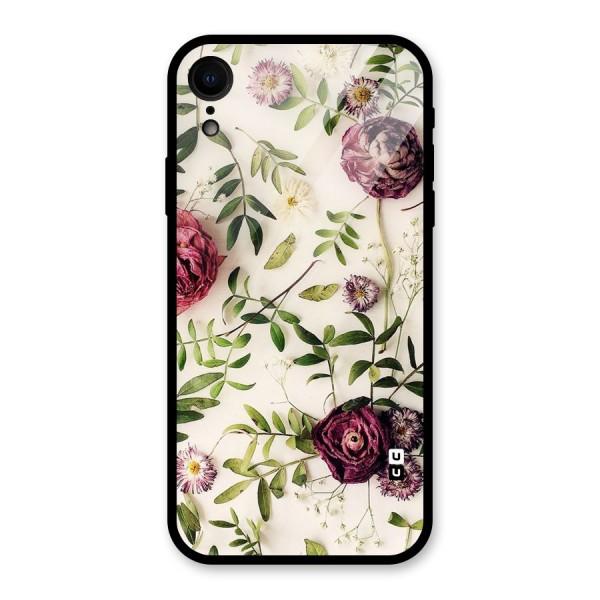 Vintage Rust Floral Glass Back Case for iPhone XR