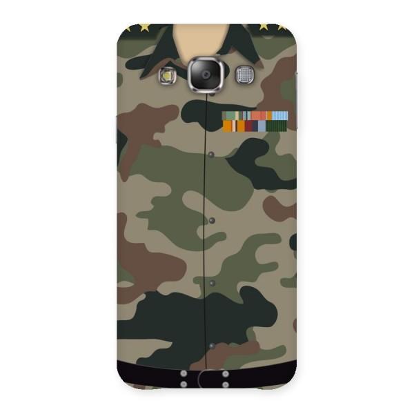 Army Uniform Back Case for Galaxy E7