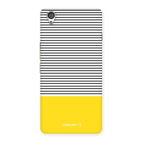 Bright Yellow Stripes Back Case for OnePlus X