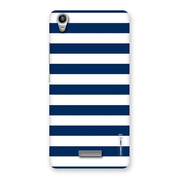 Classic Blue White Stripes Back Case for Lava-Pixel-V1