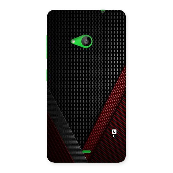 Classy Black Red Design Back Case for Lumia 535