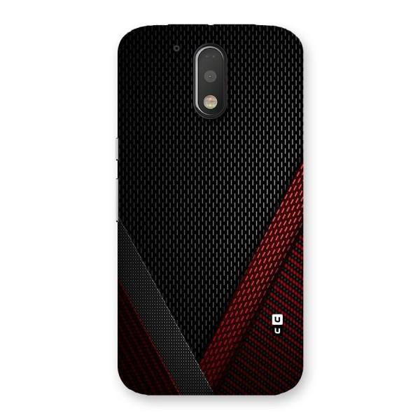 Classy Black Red Design Back Case for Motorola Moto G4 Plus