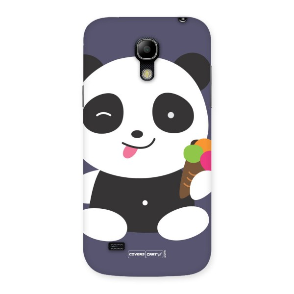 Cute Panda Blue Back Case for Galaxy S4 Mini