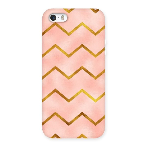 Gold Pink Pattern Back Case for iPhone 5 5S