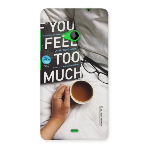 Good Reads And Coffee Back Case for Lumia 535