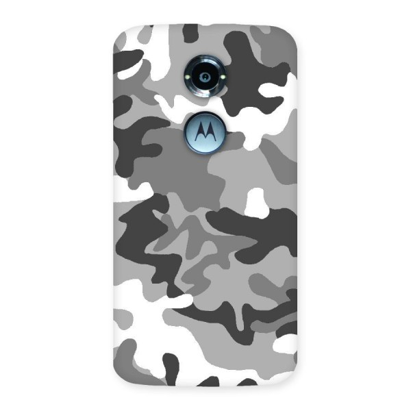 Grey Military Back Case for Moto X 2nd Gen