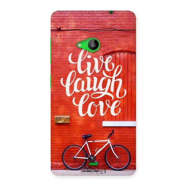 Live Laugh Love Back Case for Lumia 535