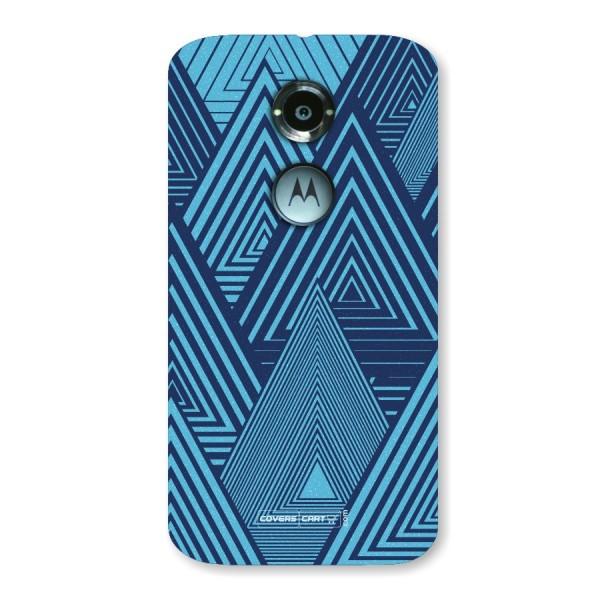 Geometric Blue Print Back Case for Moto X2