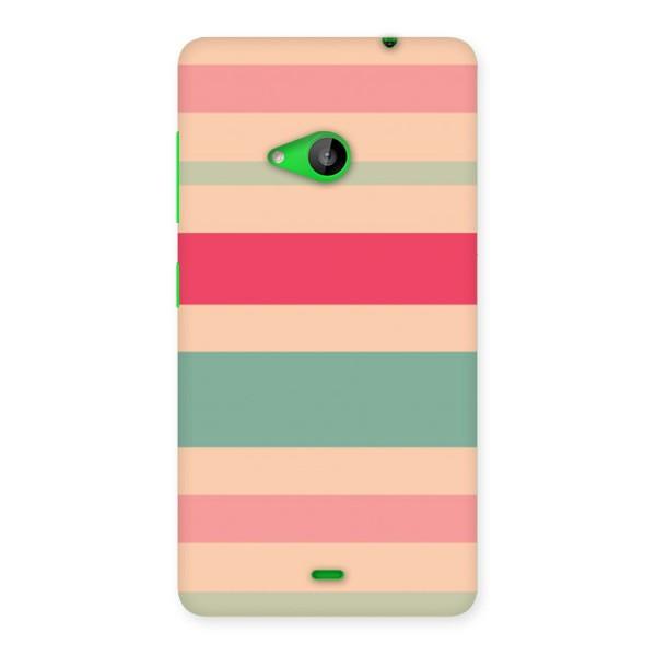 Pastel Stripes Vintage Back Case for Lumia 535