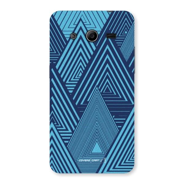 Geometric Blue Print Back Case for Samsung Galaxy Core 2