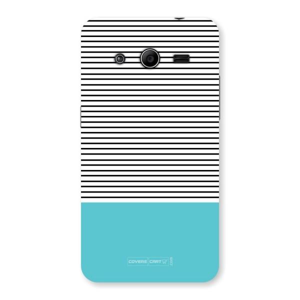 Deep Sky Blue Stripes Back Case for Samsung Galaxy Core 2