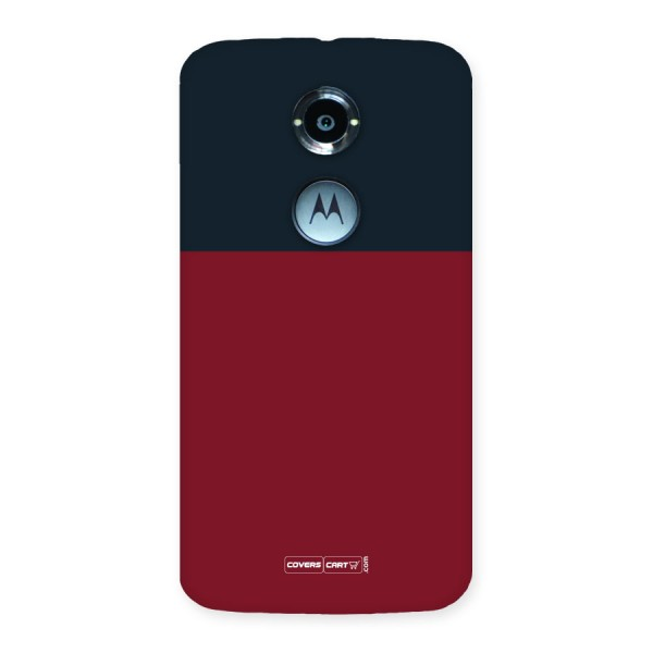 Maroon and Navy Blue Back Case for Moto X 2nd Gen