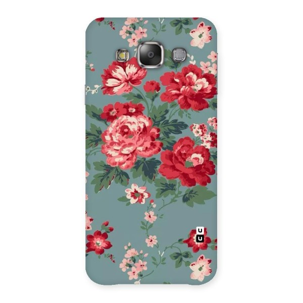 Aesthetic Floral Red Back Case for Galaxy E7