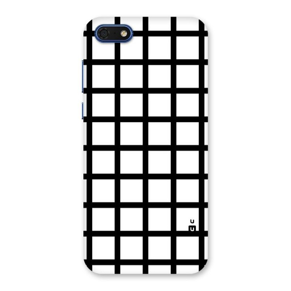 Aesthetic Grid Lines Back Case for Honor 7s