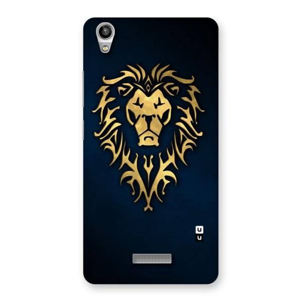 Beautiful Golden Lion Design Back Case for Lava-Pixel-V1