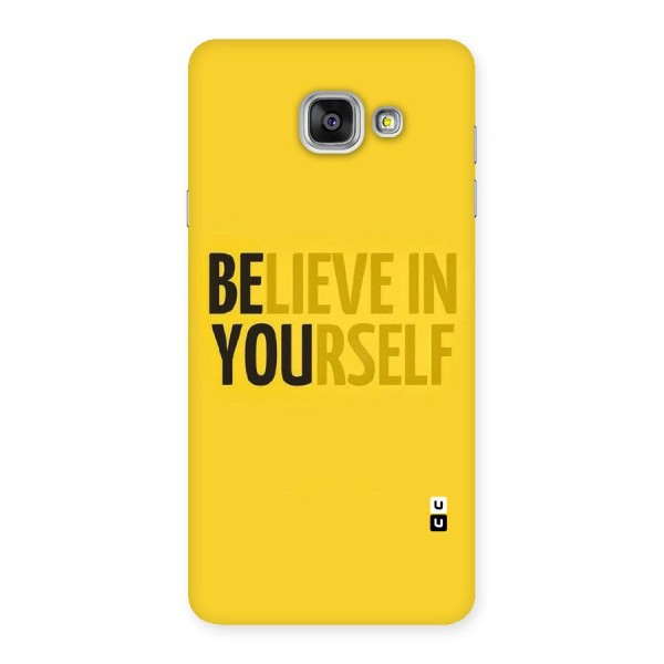Believe Yourself Yellow Back Case for Galaxy A7 2016