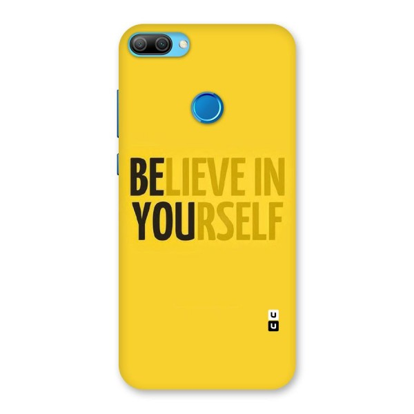 Believe Yourself Yellow Back Case for Honor 9N