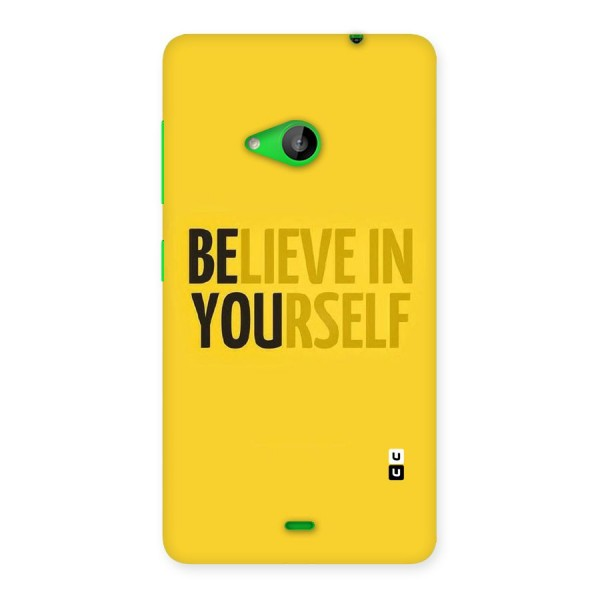 Believe Yourself Yellow Back Case for Lumia 535