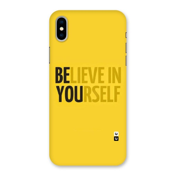 Believe Yourself Yellow Back Case for iPhone X