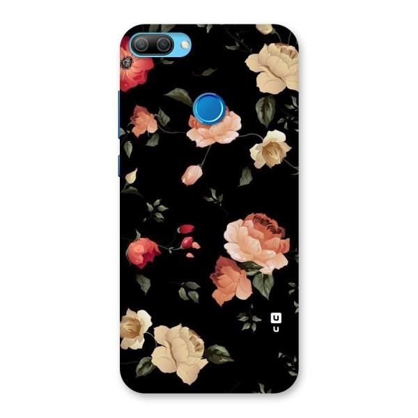 Black Artistic Floral Back Case for Honor 9N