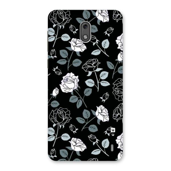 Black Artsy Bloom Back Case for Nokia 2