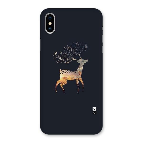 Black Deer Back Case for iPhone X