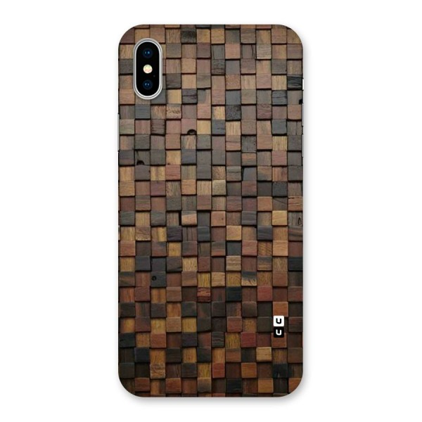 Blocks Of Wood Back Case for iPhone X