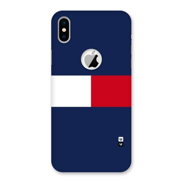 Bold Colours Back Case for iPhone XS Logo Cut