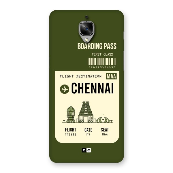 Chennai Boarding Pass Back Case for OnePlus 3T