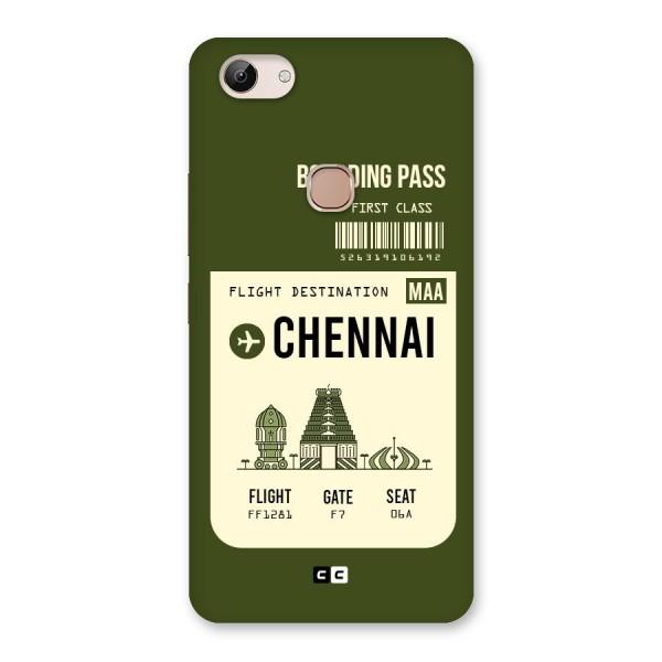 Chennai Boarding Pass Back Case for Vivo Y83