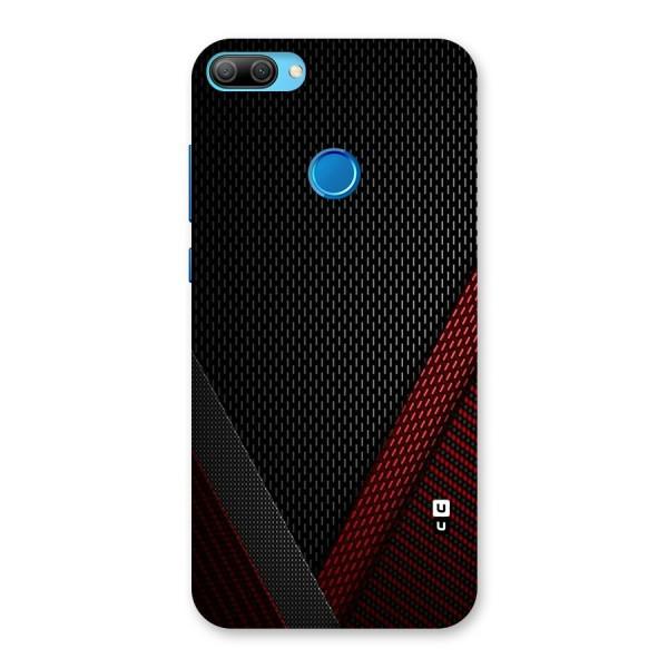 Classy Black Red Design Back Case for Honor 9N