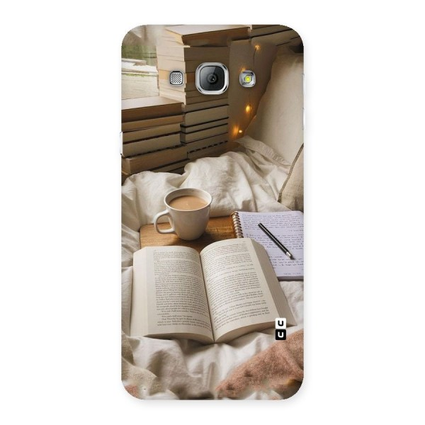 Coffee And Books Back Case for Galaxy A8