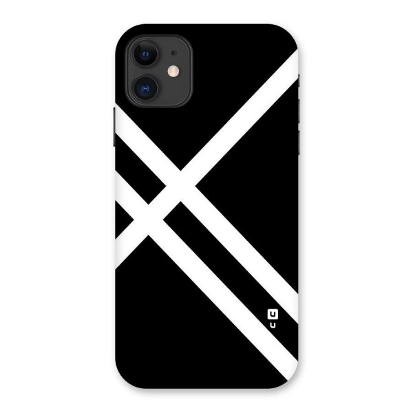 CrissCross Lines Back Case for iPhone 11