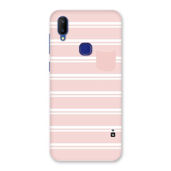 Cute Pocket Striped Back Case for Vivo V11