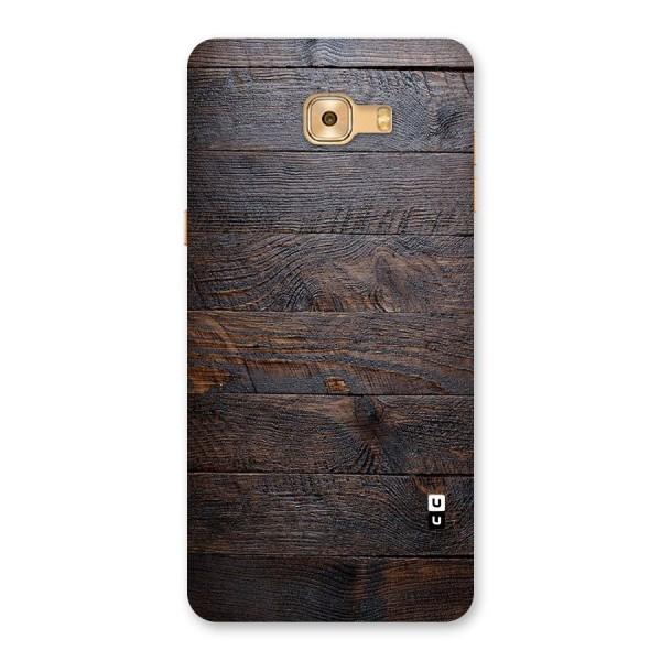 Dark Wood Printed Back Case for Galaxy C9 Pro