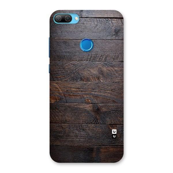 Dark Wood Printed Back Case for Honor 9N