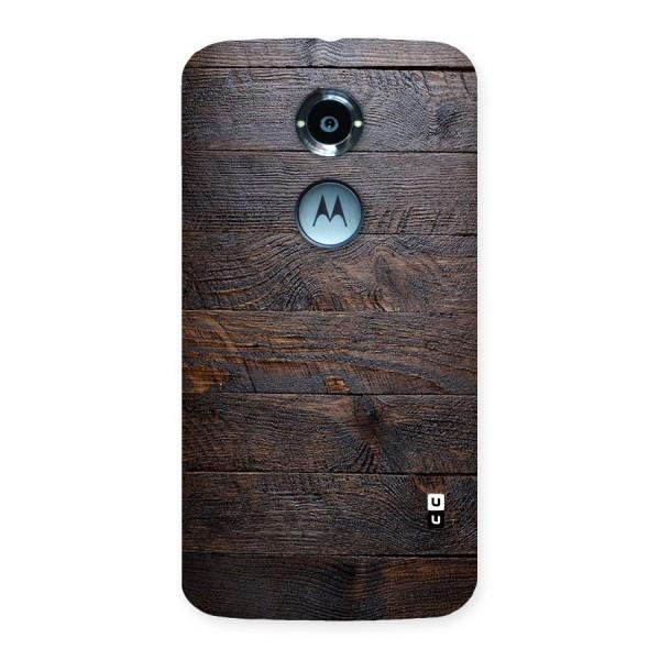 Dark Wood Printed Back Case for Moto X 2nd Gen