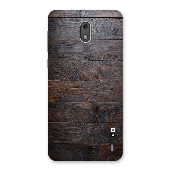 Dark Wood Printed Back Case for Nokia 2