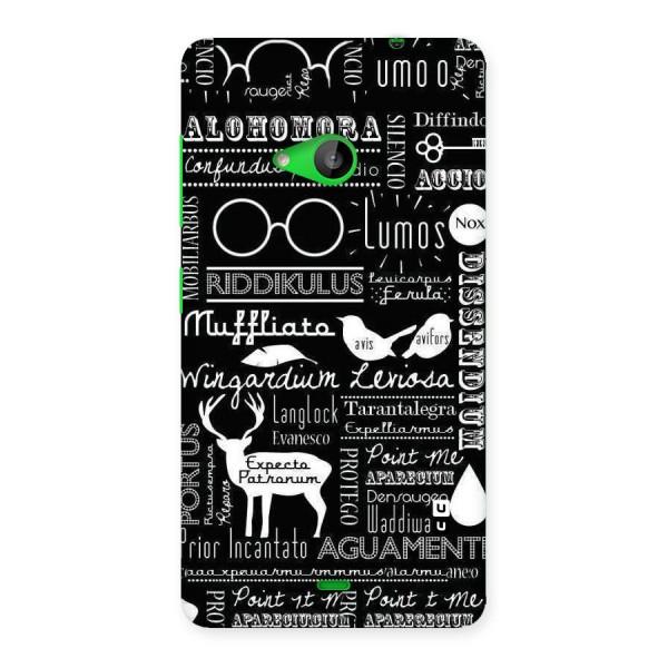 Deer Key Spell Back Case for Lumia 535