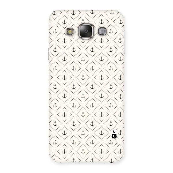 Diamond Anchor Design Back Case for Galaxy E7