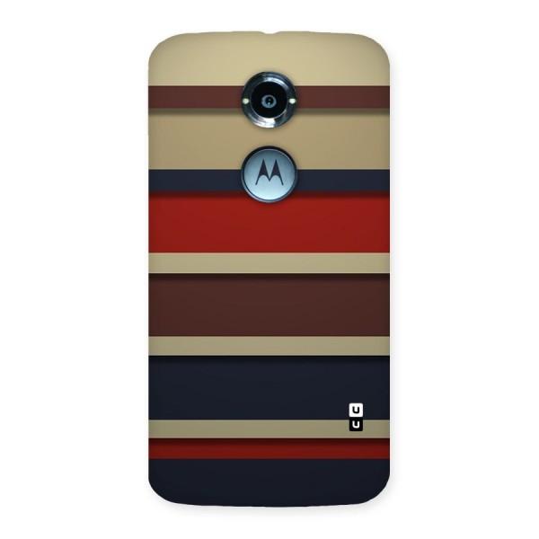 Elegant Stripes Pattern Back Case for Moto X 2nd Gen