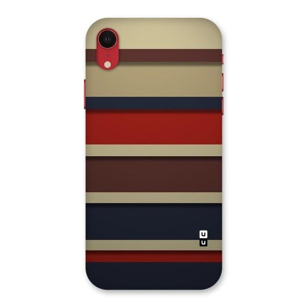 Elegant Stripes Pattern Back Case for iPhone XR