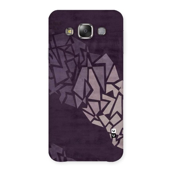Fine Abstract Back Case for Galaxy E7