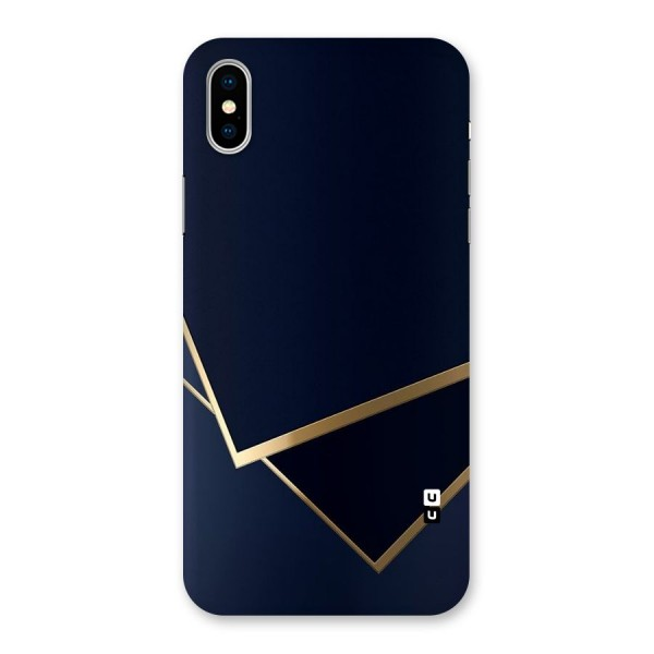 Gold Corners Back Case for iPhone X