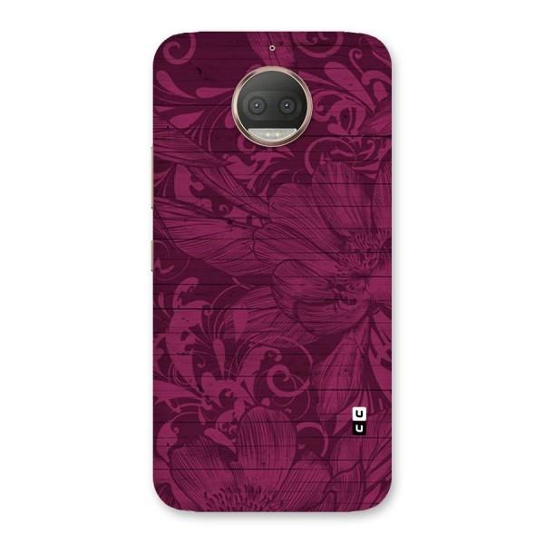 Magenta Floral Pattern Back Case for Moto G5s Plus