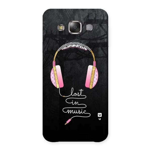 Music Lost Back Case for Galaxy E7