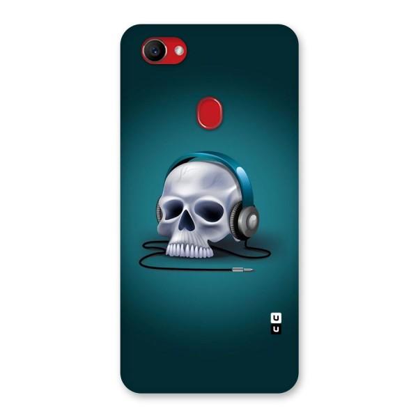 Music Skull Back Case for Oppo F7