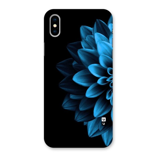 Petals In Blue Back Case for iPhone X