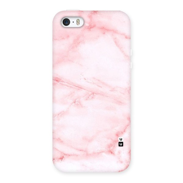 Pink Marble Print Back Case for iPhone SE