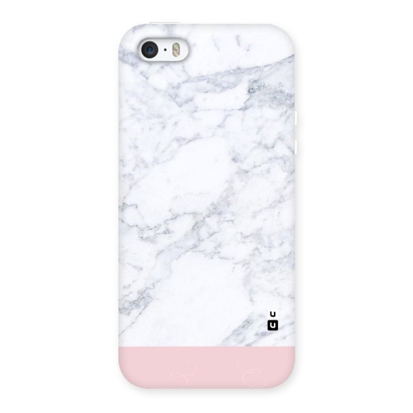 Pink White Merge Marble Back Case for iPhone SE
